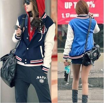 New Fashion Sports Fashion Women Hoodies/Stand Collar Baseball Sweatshirts For Women/Brand Spring Coats Women Clothing