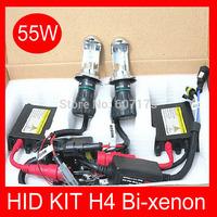 slim hid kit h4 bixenon hi lo beam xenon light 12v 55w car lamp h4 h13 9004 9007 H/L Beam bi xenon 4300-12000k free shipping