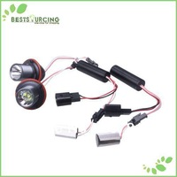 free shipping 1pairs LED White Lamp Angel Eyes 10w Super Bright E39 CREE Auto LED Ring Marker Bulbs X3/5/6/7 Series