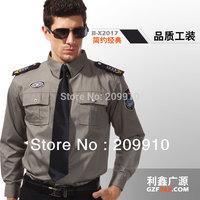 New Arrial ! Free Shipping !  Security Men Suit long-sleeve shirt / Security uniform men  Autumn Outwear