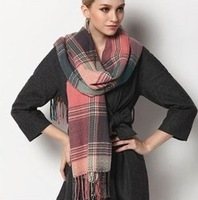 large plaid scarf shawl winter long thick tassel Artificial cashmere scarf  Man and Woman Lovers style  354