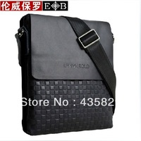 2013 Hot sale: Male  Genuine leather shoulder  messenger casual bag man check bags hot-selling