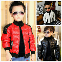 Big Promotion 2014 New Brand Winter Children Boy Coat Kids Clothes Baby Thick Coat Warm Boy Coat Child Clothing