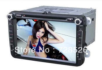 Free shipping VW POLO/Jetta/Skoda/Amark/Caddy/Golf Doble DIN Auto DVD Player+GPS Navigation+/AM +BT+Steering Wheel Control