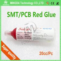 Free shipping 20g/bottle SMT Red Glue  PCB MDF BGA adhesive glue BGA epoxy red glue 10pcs / lot
