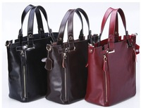 New arrivals Fashion Vintage British soft cowhide genuine leather shoulder bag tote