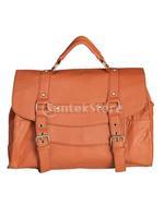 Free Shipping Ladies Womens PU Leather Shoulder Messenger Handbag - Brown