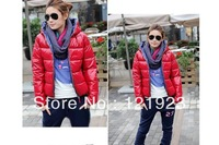 2013 autumn winter fashion women's coat hoody thermal wadded jacket cotton-padded outerwear 5 colors QC1041
