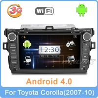 2013 Android 4.0 HD 8 inch Car DVD GPS PC For Toyota Corolla 2007-2011 2008 2009 Navi Stereo Radio TV Bluetooth Free 3G WiFi Map