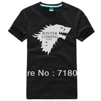 XS-4XL Men T-shirt O-neck Short Sleeve Tee A Song of Ice and Fire Game of Thrones Family Badges T Shirt for Men Free Shipping