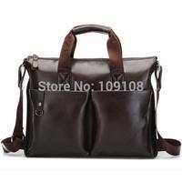 Free Shipping Men's Briefcase Leather Shoulder bag Business men's Messenger bag travel baga cross style men's leather bag