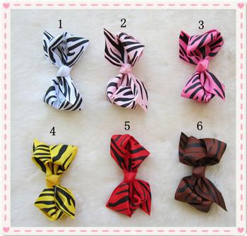 new design baby headband with bowknot12 colors zrbra bowknot for headband 18 pcs/lot