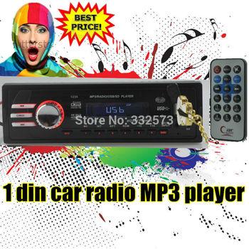 12V Car Audio Car Radio Car Stereo Mp3 Player SD USB Drive 1 Din In-Dash FM Transmitter  Free shipping LED Screen