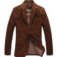 2 Colors ! 2014 New Arrival Quality Winter Warm Plus Size Coats for Men Chocolate Cotton Fashion Casual Men's Blazers M-6XL