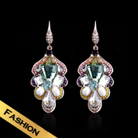 Special Earrings Natural pearls Synthetic Crystal Western Style Fashion Classic New Style Jewelry EH13A080521