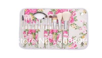 Free shipp New 1set/lot  Makeup Beauty Brushes Cosmetic Kit Powder Eyebrow Blush Brush 12PCS/SET