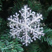 Christmas Gift  3D thin tinsel snowflake White Snowflake Christmas Ornament Decoration free shipping H006