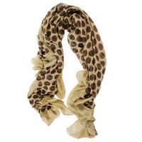 Autumn and winter hot-selling scarf thermal breathable polka dot scarf cape large facecloth