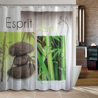Christmas Gift Shower curtain social shower curtain 180*180cm polyester Terylene waterproof bathroom curtain