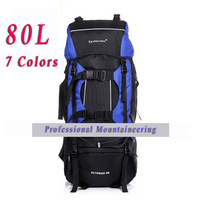 2014 New Hiking Backpacks 80L Mountaineering Ourdoor Camping Waterproof Backpack Casual Sports Luggage Bag