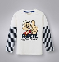 Children autumn tops  Boy long sleeve  cartoon   tshirt   kids tops