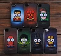 Super hero cartoon hard case cover skin for Iphone 5 5G Iphone 4 4s 4g Iphone4 iphone5 case fashion PY