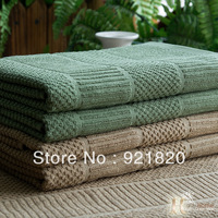 FREE SHIPPING 2013 new 100%cotton plus size jacquard towel hand towel jacquard tea towel plain green, red, chocolate 70x47cm