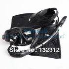 Hot ! 2013  Diving Equipment Diving Mask   Snorkel silicone diving fin black(China (Mainland))