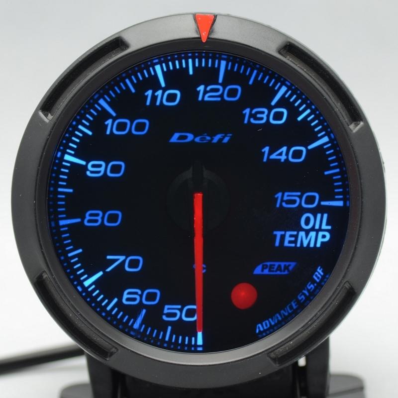 2.5 INCH 60MM Auto Defi Medidor para carro , Defi BF Gauge, carro medidor de temperatura do óleo medidor / Temp Oil , azul e branco Luz(China (Mainland))