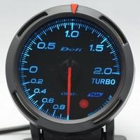 2.5 INCH 60MM Auto Defi Gauge, Defi BF Gauge, car meter TURBO BOOST Gauge, Blue and White Colors Lights In Stock