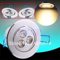 5% Discount 2pcs 6W 3x2W ,9W 3x3W LED Warm White 3x1W White Recessed Downlight Spotlight Bulb Lamp 95-265V 110V 220V