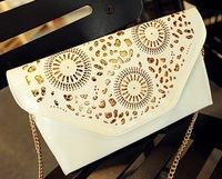Free shipping 2014 new national wind hollow envelope clutch bag Messenger bag handbag shoulder bag