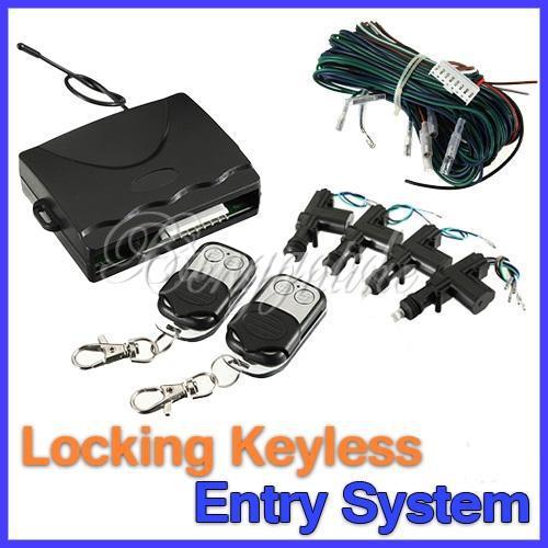 Universal 360 Degree Rotation Car Auto Kit Remote Central Alarm Security 4 Door Bracket Lock Locking Power Keyless Entry System(China (Mainland))