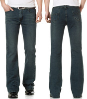 2014Spring and autumn xiaxin casual all-match men's boot cut denim slim jeans