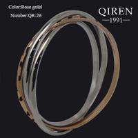 High quality fashion style classical black leopard spot bangle three circle bangle bracelet rose gold/silver  QR-26