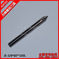 3/8*60Degree*100L Special Two spiral cutter with Angle ,CNC router bits endmill,Angle bits for cnc