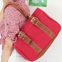 New Autumn Winter Fashion Canvas Bag Retro Candy Color Shoulder Bag Pu Handbags Sac A Main Fashion For Women Bolsa A161