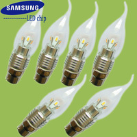 Shenzhen manufacturer LED candle bulb wholesale B22 3W 300LM 110V 220V dimmable non-dimmable for crystal chandelier lamp