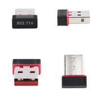 150Mbps IEEE 802.11n USB WiFi  wireless network card signal transmitter /receiver desktop WLAN USB Adapter Free shipping