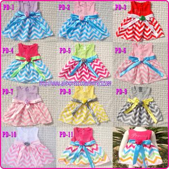 10pc/lot free shipping girls chevron princess dress chevron dress for toddler cotton chevron dress with zip diamond new arrival
