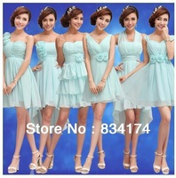 Cii The bride bridesmaid  blue bridesmaid group bridesmaid dress short paragraph special occasion group
