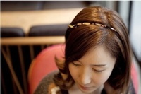 Aliexpress super soft lines of the  tieclasps hair bands with the leopard print of headband 5pcs