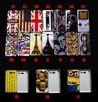 10 PCS UK USA flag skull head HAHA Effiel tower tape Game Cartoon 17 styles hard case for Motorola XT890 RAZR i NO.1