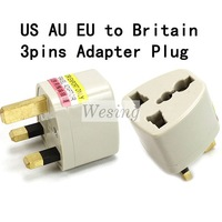 1pc US EU AU to UK AC Power Plug Travel Adapter Converter 3 pin for free shipping