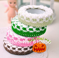 Cotton lace decorative tape, Korea Stationery Stickers DIY cotton lace tape Decorative tape cute gift tape 80pcs/lot