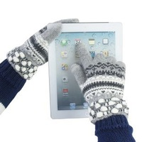Winter wool touch screen gloves in snow female money pineapple gloves PAD PHONE apple gloves 5colors can choose