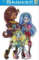 Best selling monster high cartoon  pvc sticker for kids room