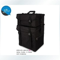 Professional canvas trolley split combination of cosmetics beauty box hairdressing box