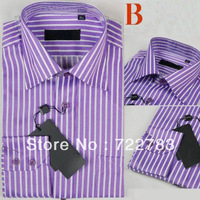 Top Quality German Brand Men's Striped Formal T-Shirts for Suits Designed Shift t Shirt Drop Shipping