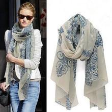 fashion Totem  female Korean version of the new chiffon and cotton scarf shawl clothing leopard ,Wholesale !(China (Mainland))
